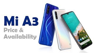 Pricing and availability  of Mi A3