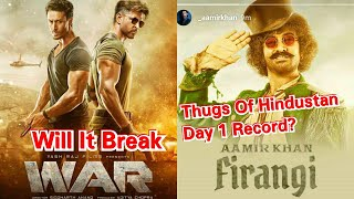 Will War Movie Able To Break Thugs Of Hindostan Day 1 Collection Record?