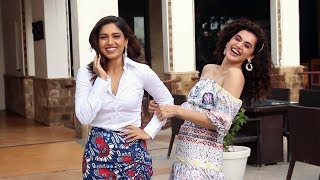 Taapsee Pannu And Bhumi Pednekar Spotted Promoting Their Movie Saand ki Aankh At Sun n Sand