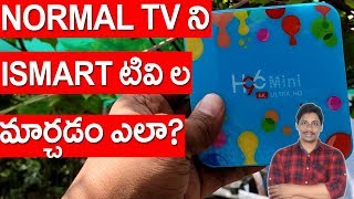 convert normal tv to smart tv | H96 Mini telugu | Banggood