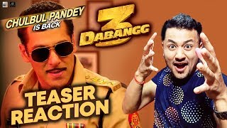 DABANGG 3 TEASER REACTION | REVIEW | Salman Khan Back As Chulbul Pandey