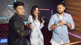 Tik Tok Star Awez Darbar And Nagma CRAZY DANCE At Mere Naina Song Launch Party