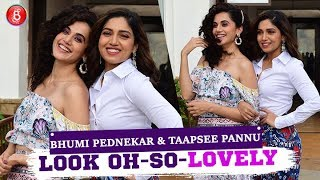 Bhumi Pednekar & Taapsee Pannu Look Oh-So-Lovely Promoting Saand Ki Aankh