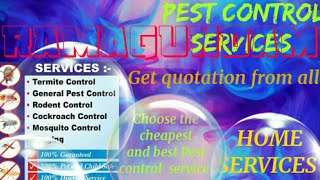 RAMAGUNDAM     Pest Control Services ~ Technician ~Service at your home ~ Bed Bugs ~ near me 1280x72