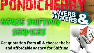 PONDICHERRY    Packers & Movers ~House Shifting Services ~ Safe and Secure Service ~near me 1280x72
