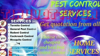 TIRIVOTTIYUR     Pest Control Services ~ Technician ~Service at your home ~ Bed Bugs ~ near me 1280x