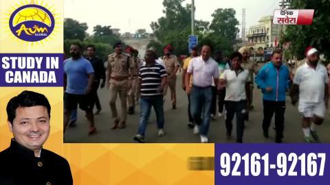 Gandhi Jayanti के मौके Jalandhar के DC Varinder Sharma ने निकला Peace March