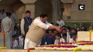 Gandhi Jayanti: Sonia Gandhi, JP Nadda pay floral tribute to 'Bapu' at Raj Ghat