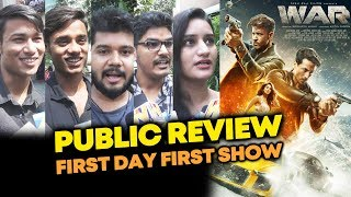 WAR PUBLIC REVIEW | First Day First Show | Hrithik Roshan Vs Tiger Shroff