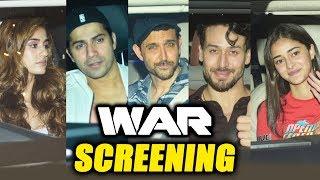 WAR Biggest Screening   Hrithik Roshan, Varun Dhawan, Tiger Shroff, Disha Patani, Ananya Pandey