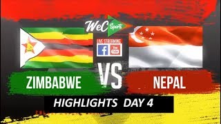 InstaReM Singapore Tri-Series, Match 4: Zimbabwe vs Nepal Highlights