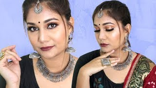 Navratri/Garba/Dandiya Chit Chat - with products under rs 300 | Beginners Makeup Step By Step Hindi