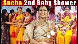 Sneha 2nd baby shower video | Sneha Seemantham Moments
