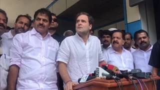 Rahul Gandhi addresses media in Wayanad, Kerala