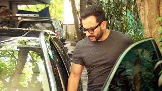 Saif Ali Khan Spotted At Dubbing Studio Bandra - Watch Video