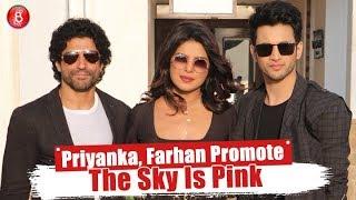 Priyanka Chopra, Farhan Akhtar & Rohit Saraf Look Lovely As They Promote The Sky Is Pink