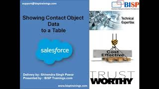 Showing Contact Object Data | Salesforce Lighting | Lightning Components | Salesforce BISP