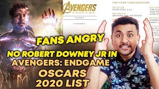 FANS Angry As Robert Downey Jr NOT In Avengers: Endgame Oscars 2020 List
