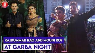 Rajkummar Rao and Mouni Roy promote 'Made In China' at Garba Night