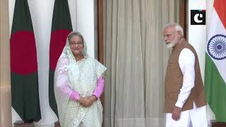 Bangladesh counterpart Sheikh Hasina meets PM Narendra Modi in Delhi