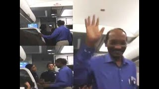 Watch: ISRO chief gets hero's welcome on board Indigo flight