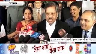 #SHIMLA_HC के 25 वें मुख्य न्यायाधीश बने एल नारायण स्वामी
