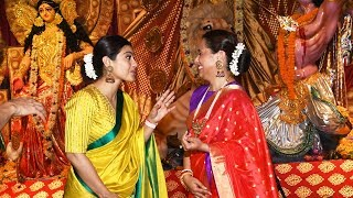 Rani Mukerji & Kajol At North Bombay Sarbojanin Durga Puja Pandal To Seek The Blessings Of Maa