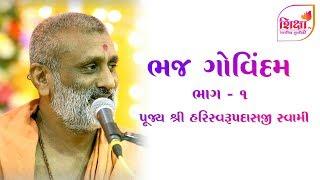 ભજ ગોવિંદમ | ભાગ - 1 | પૂજ્ય શ્રી હરિસ્વરૂપ દાસજી સ્વામી | ShikshaTv