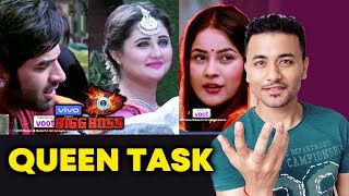Bigg Boss 13 QUEEN TASK | Who Will Be The NEXT Queen | Rashmi Shehnaz Koena Dalljiet Devo Mahira