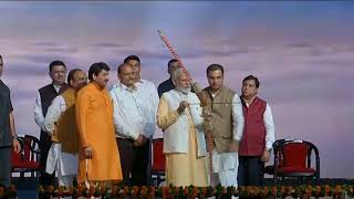 PM Shri Narendra Modi attends Dussehra Celebrations at DDA Ground in Dwarka