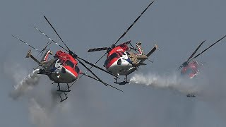 'Saarang' helicopters, Suryakiran aircraft teams dazzle at Indian Air Force Day celebrations
