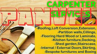 PANVEL    Carpenter Services  ~ Carpenter at your home ~ Furniture Work  ~near me ~work ~Carpentery