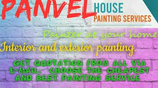 PANVEL     HOUSE PAINTING SERVICES ~ Painter at your home ~near me ~ Tips ~INTERIOR & EXTERIOR 1280x