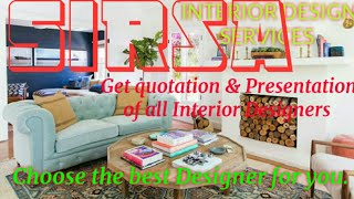 SIRSA     INTERIOR DESIGN SERVICES ~ QUOTATION AND PRESENTATION~ Ideas ~ Living Room ~ Tips ~Bedroom