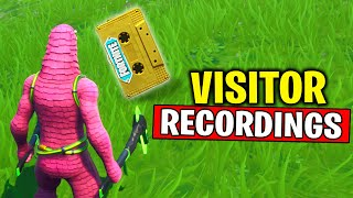 Collect the Visitor Recording on The Floating Island and Retail Row - Out of Time Challenges