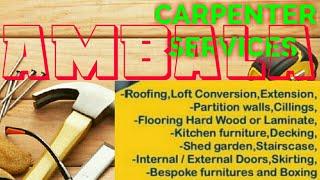 AMBALA     Carpenter Services ~ Carpenter at your home ~ Furniture Work ~near me ~work ~Carpentery
