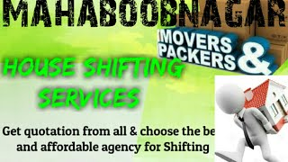 MAHABOOBNAGAR     Packers & Movers ~House Shifting Services ~ Safe and Secure Service  ~near me 1280