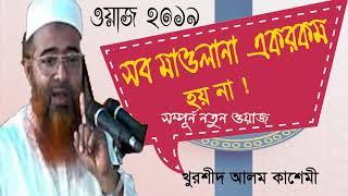 Allama Khurshid Alom Kasemi Waz | সব মাওলানা এক রকম হয় না | Bangla Waz mahfil 2019 | New Waz Bangla