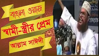 Saidi Waz Mahfil Bangla | স্বামী স্ত্রীর প্রেম | New Bangla Waz Mahfil | Bangla Waz | Waz Mahfil
