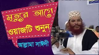 Allama Delwar Hossain Saidi Waz Mahfil Bangla | মৃত্যুর আগে ওয়াজটি শুনুন | Saidi Bangla Waz Mahfil