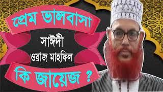 Saidi Waz Mahfil Bangla | প্রেম ভালবাসা নিয়ে সাঈদীর ওয়াজ । Bangla Waz mahfil Allama Saidi | Waz