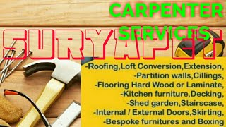 SURYAPET    Carpenter Services  ~ Carpenter at your home ~ Furniture Work  ~near me ~work ~Carpenter