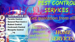 MIRYALAGUDA     Pest Control Services ~ Technician ~Service at your home ~ Bed Bugs ~ near me 1280x7