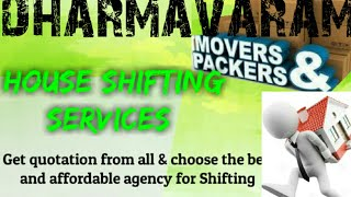 DHARAMAVARAM     Packers & Movers ~House Shifting Services ~ Safe and Secure Service  ~near me 1280x