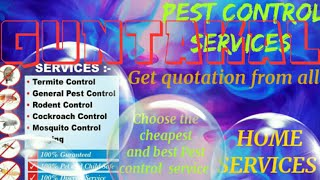 GUNTAKAL      Pest Control Services ~ Technician ~Service at your home ~ Bed Bugs ~ near me 1280x720