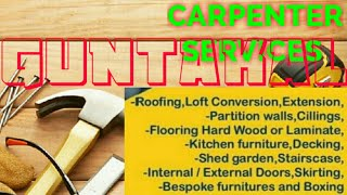 GUNTAKAL     Carpenter Services  ~ Carpenter at your home ~ Furniture Work  ~near me ~work ~Carpente