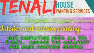 TENALI    HOUSE PAINTING SERVICES ~ Painter at your home ~near me ~ Tips ~INTERIOR & EXTERIOR 1280x7