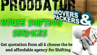 PRODDATUR     Packers & Movers ~House Shifting Services ~ Safe and Secure Service ~near me 1280x720