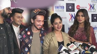 Mr Faisu And Jannat Zubair At Awez Darbar's Mera Mehboob Song Launch