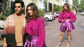 Rajkummar Rao Along With Mouni Roy Spotted Promoting Their Film Made In China At Juhu